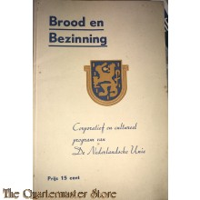 Brochure , Brood en Bezinning program van de Nederlandsche Unie