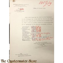 (uitgebreide correspondentie) Inlichtingen staten Vaandrigs 19e Depot Bataljon (19 R.I.) 25 okt 1939 - 6 april 1940