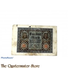 Reichsbanknote Hundert Mark 1920