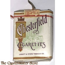 Verpakking CHESTERFIELD sigaretten (Wrapper CHESTERFIELD  cigarettes)