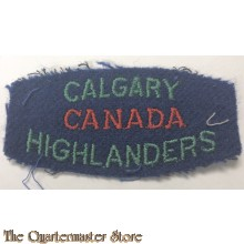 Shoulder flash Calgary Highlanders of Canada, 2nd Canadian Infantry Division