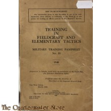 Pamphlet No 33 Training in Fieldcraft and Elementary Tactics CANADA 1940