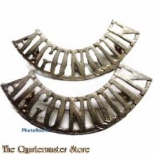 Shoulder Titles Algonquin Regiment Canada (brass)