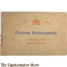 Boekje Nationaal Huldigingsdefile 1898 -  1933 9 sept 1933