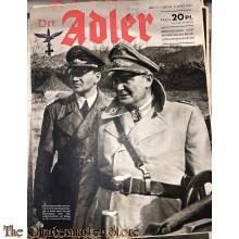 Zeitschrift Der Adler heft 5  , 3 marz 1942 (Magazine Der Adler No 5, 3 marz 1942)