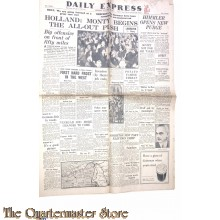 Newspaper, Daily Express oct,  1944 , Holland ; Monty begins the all-out push