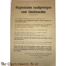 Flyer/poster Hygienische raadgevingen voor Vluchtoorden Den Haag