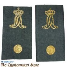 Schouderstukken vaandrig MA Militaire Academie