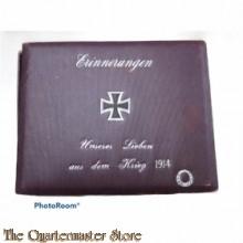 Dose Erinnerungen an Unsere 1914 Lieben aus dem Krieg  (Rememberance carton box 1914)