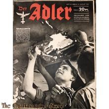 Zeitschrift Der Adler heft 18 ,31 aug  1943 (Magazine Der Adler no 18, 31 aug 1943)