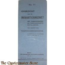 Voorschrift no 31 Overzicht van de inkwartierings wet 1915