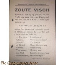 Mededeelingen Plaatselijke Distributiedienst Amersfoort 15  juni / 28 juni 1945 Zoute Visch