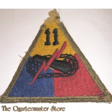 Mouwembleem 11th Armored Division damaged (Sleevebadge 11th Armored Division)
