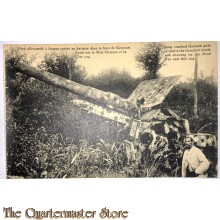 Military postcard long reached German gun setteld in the Gercourt woods And shootings on the Dead Man and Hill 304