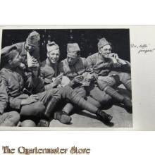 Prent briefkaart mobilisatie 1939 De toffe jongens