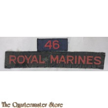 """Cash title"" Shoulder flash no 46 Royal Marines"