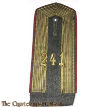 Imperial German NCO Shoulderboard 241 Regiment