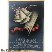 Briefkaart Irene Beatrix Margriet Wilt heden nu treden voor god de heere, hem boven al loven van herten seer