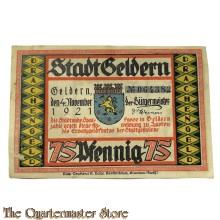 Banknote 75 Pfennig Stadt Aken/Elbe 1921
