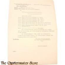 Brief Ubersendung Dienstauszeichnungen Generalkommando VII Armeekorps
