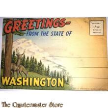 Map of postcards Washington 1940