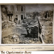 Press photo , WW1 Western front,  remains of village Feuchy