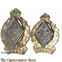 Collar badges Royal Australian Army Corps (WRAAC) 1951