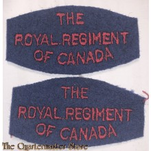 Shoulder titles The Royal Regiment of Canada,  2nd canadian Infantry Division