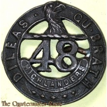 Collar badge 48th Highlanders ,  1st Canadian Armoured Division