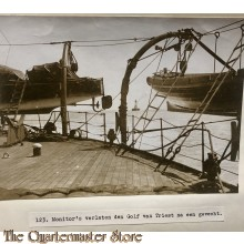 Press photo , WW1 Western front, ships leave the Gulf of Triest