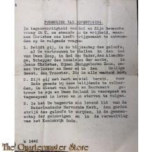 Formulier van bevestiging (Ned Herv Kerk) WW2