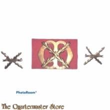 Baret embleem en schouder Regiment Chasse 1950-1963