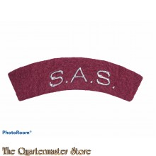 Shoulder title  S.A.S. Special Air Service  (arched)