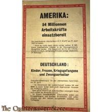 Flugblatt  G.23, AMERIKA: 54 Millionen Arbeitskräfte einsatzbereit (AMERICAN LABOUR POTENTIAL 54 MILLIONS / Ludendorf and Hitler)