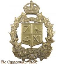 Cap badge 7/11 hussars canada WW2
