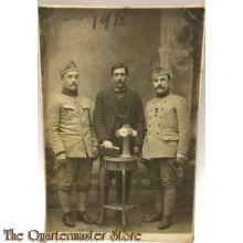 Studio portret 2 soldiers with civilian belgium 1918