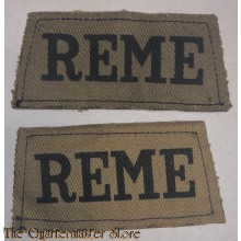 Slip on's Royal Electrical and Mechanical Engineers (R.E.M.E.) canvas