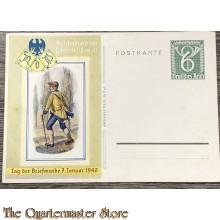 Postkarte Tag der Briefmarke 7 Januar 1940