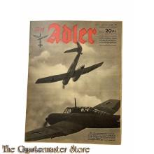 Zeitschrift Der Adler heft 11 , 26 Mai 1942 (Magazine Der Adler no 11 , 26 Mai 1942)