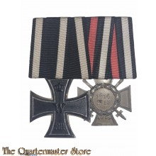 Ordenspange EK 2 1914 Frontkämpfer Ehrenkreuz mit Schwerter ¨Hindenburgkreuz¨  (Medalbar Iron Cross 1914 and  Hindenburgcross with swords)