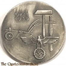Spende abzeichen 1 Mai 1936 (Tinnie 1 mai 1936) Walgo-Kierspe-BNF