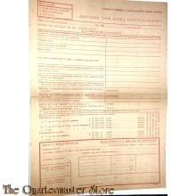 Aanvraag voor extra textielgoederen 1944