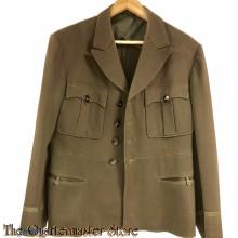 Uniform jacket, wool ,officier O.D. dark Elastique