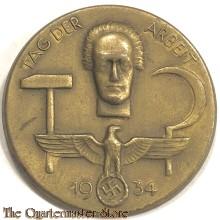 Spende Abzeichen Tag der Arbeit 1934 (Tinnie Tag der Arbeit 1934)  Schwab Gmund