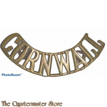 Shoulder title arched Cornwall (brass)