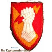 Mouwembleem 38th Air Defence Artillery Brigade (Sleeve badge 38th Air Defence Artillery Brigade) 1950s
