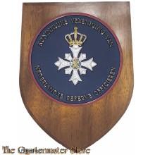Wandbord Koninklijke Vereniging van Nederlandse Reserve Officieren