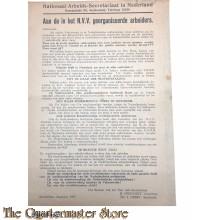 Communistisch pamflet oproep tot mobiliseren tegen de Kapitalistische reactie 1927