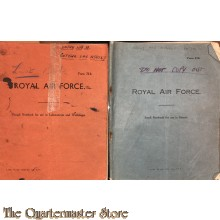 RAF small notebook and Rough notebook WW2