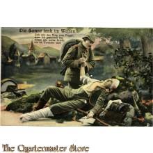 Militair Postkarte 1914  Die Sonne sank im Westen Sag Ihr, Zieh Mir den Ring vom Finger